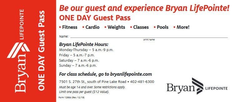 LifePointe Ond Day guest pass
